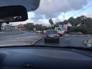 File rijden op de Caracasbaaiweg