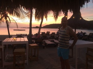 Zonsondergang bij Jan Thiel