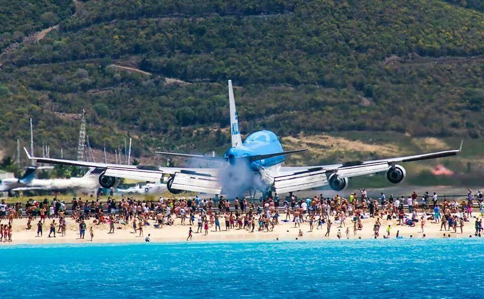 Landing op Sint Maarten